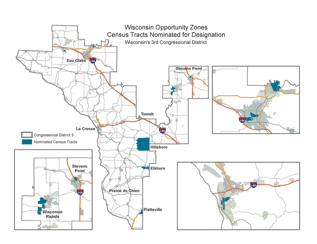 WI Opportunity Zone Map Congressional District 3